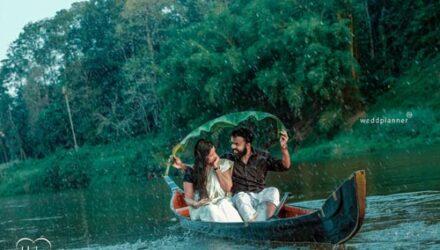 Во время предсвадебной фотосессии жених с невестой упали в реку