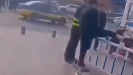 Пешеходам, нарушившим правила дорожного движения, устроили «физкультминутку»