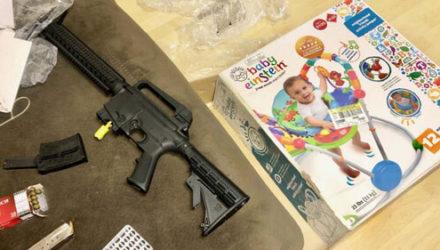 В детском подарке обнаружилась заряженная винтовка
