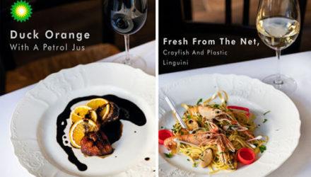 Альтернативное обеденное меню заставляет задуматься об охране окружающей среды