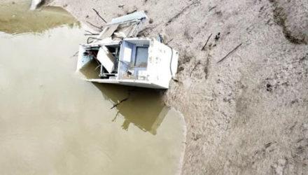Осушив пруд, фермер обнаружил банкомат