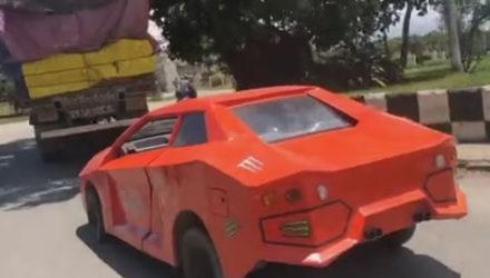 Водитель решил не покупать Lamborghini, а сделать его своими руками