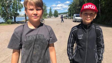 Во время магнитной рыбалки мальчики нашли старую ручную гранату
