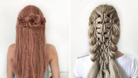 Юная мастерица прославилась благодаря удивительным замысловатым причёскам