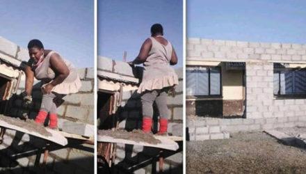 Женщина-инженер собственноручно сделала пристройку к своему дому