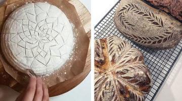 Пекарь показал, как именно он украшает хлеб