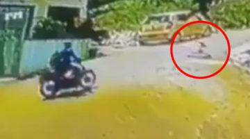 Мотоциклиста, спасшего ребёнка на дороге, многие посчитали настоящим героем