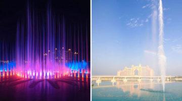Самый большой фонтан в мире показывает людям световые шоу с музыкой