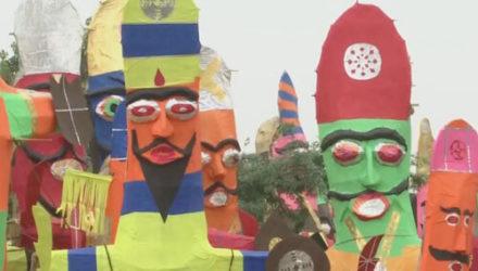 Во время фестиваля люди сожгут чучело, изображающее коронавирус
