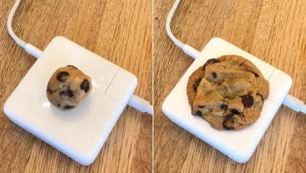 Зарядное устройство пригодилось для приготовления печенья