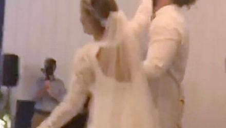 Жених слишком грубо обошёлся и с тортом, и с невестой