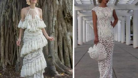Дизайнеры соревнуются в создании самого красивого свадебного платья из туалетной бумаги